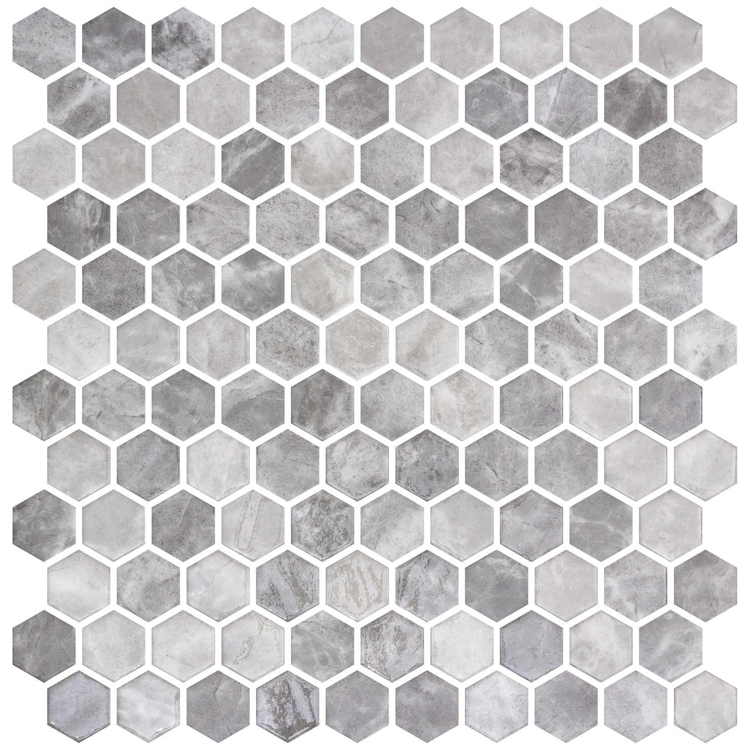 HEX GRAY SILVER MIX